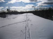 Ski trail near my house.